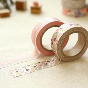 "Masking adhesive tape decorative tape - Botanic Garden 0.59""X11yd"